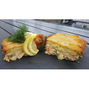 Kartoffel / Lakse gratin...